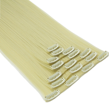 Soowee 7pcs/set 16 Clips Long Straight Beige Blonde Hair Pieces Synthetic Hair Pad Hair Extension Clip-in Full Head Mega Hair