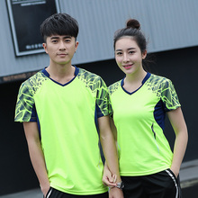 Free Printing New Badminton wear tshirt Men/Women's , sports badminton clothes ,Table Tennis shirt, Tennis t shirt AY007(China)