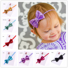 40pcs Glitter Bow Hair Accessories Sequin Bowknot Bling Hair Bows  s Glitter Hairbows headband Fancy Headband