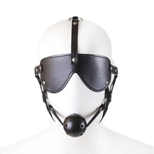 Buy Sex Shop Sexo Restraints Mask patch Ball Mouth Gag Head Harness Bdsm Bondage Fetish Adult Game Slave Sex Toys Couples