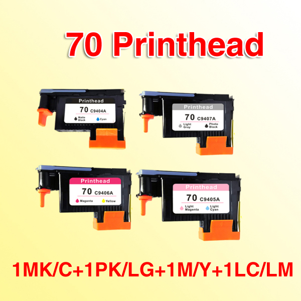 4pcs compatible for hp 70 printhead compatible compatible for HP Designjet Z2100 Z5200 Z3100 Z3200 printhead