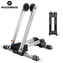 ROCKBROS Bicycle Racks Aluminum Bike Repair Stand Mountain Bicycle Racks Portable Display Stand L-Type Parking Folding Stand(China)
