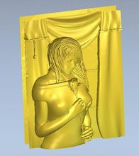 3d model relief  for cnc in STL file format The girl from the bathroom