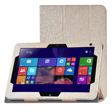 Fashion Silk Pattern PU leather Folding Folio Case for HP ElitePad 1000G2 900G1 for 10.1'' Tablet PC Cover Case(China)
