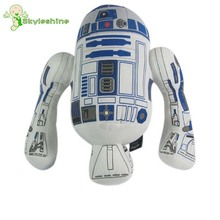 Skyleshine 35CM Star Wars R2D2 Plush Toys Lovely Robot Plush Dolls Kids Toys European and American Movie Toy #ML0176(China)