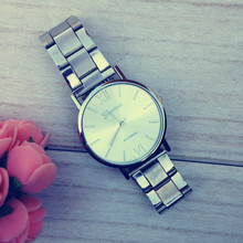 2014 New Coming Silver High-Polished Bracelet Clean Style Dial Quartz Watch,Sandy Metal Watch Women Geneva Watch