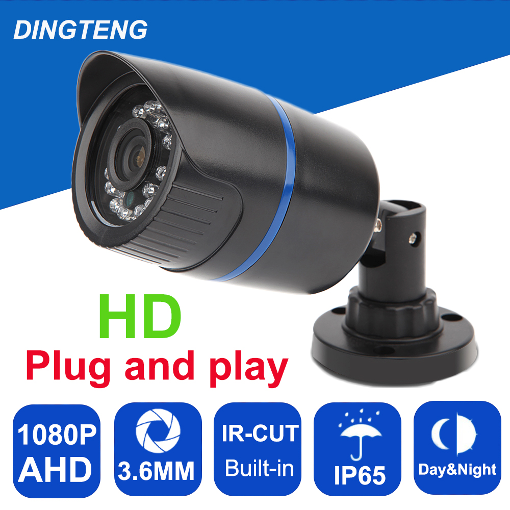 CCTV Camera CMOS AHD Camera  1080P Outdoor Waterproof 3.6mm Lens  2MP Bullet Security Camera Work For AHD DVR<br>