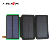 X-Dragon Real Solar Charger 10000mAh Power Banks Charged by Solar and Micro USB cable Portable for outdoors Charging.