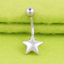 316L Medical Stainless Steel Womens Girls Sexy Bar Navel Belly Button Ring Star Piercing Nombril Body Jewelry