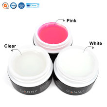 #3631 canni factory supplier nail art base top coat transparent clear, white ,pink color uv builder nail extend gels 15ml*1PC(China)