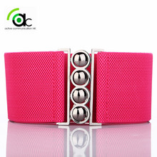WOMENS BELTS 4 CLASP 3 INCH WIDE ELASTIC WASPIE CORSET WAIST BELT WOMAN LADIES(China)