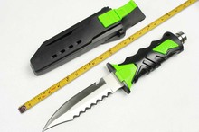 2 Options! Outdoor Diving Knife,440C Blade Rubber Handle Stain Polish Hunting Fixed Knives,Survival Knife.