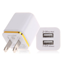 Sanheshun Universal Double USB Ports US Plug AC Home Wall Charger Travel For Mobile Phone Accessories(China)