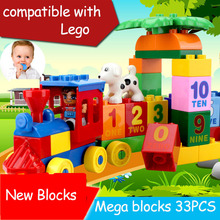 33PCS Building blocks mega blocks building construction toys toddlers models & building toy educational toys