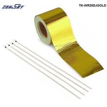 "TANSKY -2""x5 Meter Design Engineering Reflect A Gold Performance Heat Protection Tape/Barrier For Jeep Wrangler TK-WR20DJGOLD(China)"
