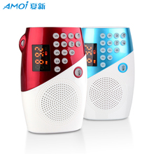 Amoi V8 Mini Fm Pocket Stereo Radio Speaker Portable Micro Sd Reader Fashion Loudspeaker Support Tf Usb Mp3 Audio Player