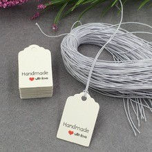 200Pcs/lot white Paper Tags Wedding Label Luggage Note Price Hang Tag Gift 3 x 2cm(China)