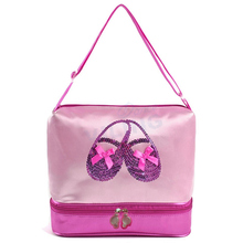 Pink ballet dance bag Water-proof fabric bag dancer's handbag for girls women dancer for Embroidered Clutchv Shoulder bag(China)
