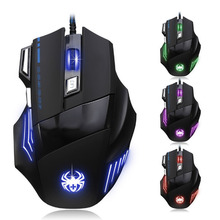 Vococal 5500DPI Wired Portable Optical Magic USB Gaming Mouse 7 buttons for Computer Laptop Notebook PC Windows XP X7 ME Gadgets(China)