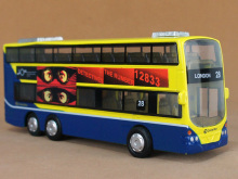Alloy Double Decker Bus, 16Cm Die cast Bus Model, London bus,Hongkong City Bus. Small size,Public Traffic, lignt and sound