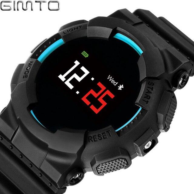 GIMTO Men Women Sport Smart Bracelet Watch Bluetooth Clock Heart Rate Blood Pressure Oxygen Sleep Monitor Pedometer Wristwatch <br>