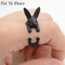 Real Picture Vintage Handmade Boho Chic Rabbit Ring Mid Finger Bunny Ring Animal Wedding Rings For Women Men Gift Jewelry