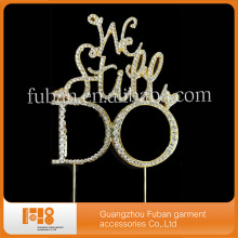 (20 pieces a lot ) New products We still do clear rhinestone cake topper for wedding favors(China)