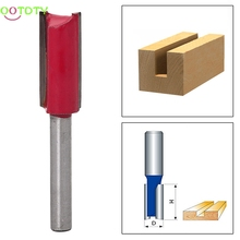 "1/4 ""Shank 1/2"" Blade Woodworking Double Flutes Straight Router Bit Cutter Tool"