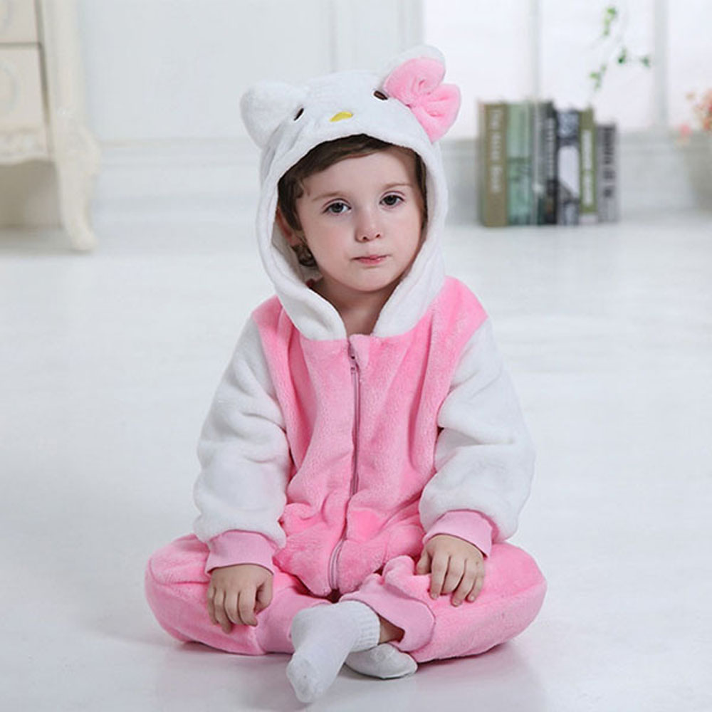 Girl Baby Animal Romper Infant Costume Hooded Flannel Cute Animal Cat Infant Romper Toddler Jumpsuit Clothes Baby Animal Costume<br><br>Aliexpress