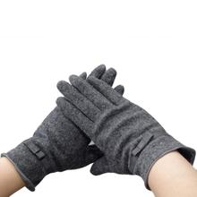 Ladies Soft Thin Gloves Women's Mittens Winter Warm Wool Women Gloves Windproof Outdoor Sport Gloves Mitts Free Shipping #JO