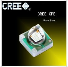5pcs/lot US.CREE XPE Beads Royal Blue(450~465nm) 3W High Power LED Chip(China)
