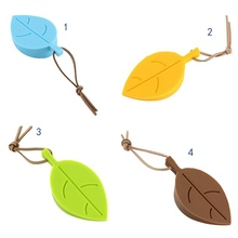 Baby Safety Silicone Door Stopper Leaf Shape  Stereo Hang Pinch-resistant Door Stopper Baby Hand Safe