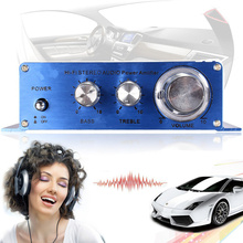 180W + 180W 2CH 12V Mini Hi-Fi Auto Car Stereo High Power Amplifier Speaker Input for CD MP3 Car Audio Motorcycle Home