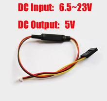DC-DC DC 6.5V-23V to DC 5V conversion cable Step-down convert wiring Voltage reduce cable converter for FPV CMOS Camera(China)