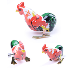 Classic chinese tranditional toys New nostalgic iron rooster peck rice iron toys Funny kids Toys decoration toys(China)