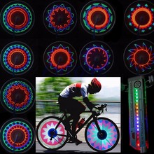 Bicycle Accessories Bike Flashlight 16 LED Car Motorcycle Cycling Bike Bicycle Tire Wheel Valve Flashing Spoke Light(China)