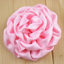 20pcs/pack 3inch Satin Rosettes for Craft,DIY Fabric Flowers for Girls Headbands,Wedding Party Embellishments