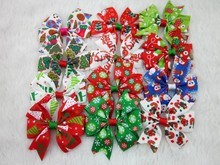 3inch Christmas Ribbon Bows without Clip for Christmas Party Decoration Boutique Ribbon Bows for Christmas 12pcs/lot
