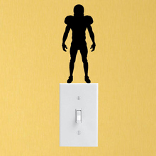 Football Player Sports Bedroom Vinyl Home Wall Sticker Switch Decal 6SS0244
