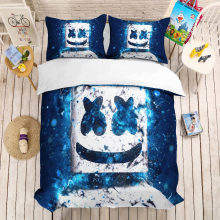 MUSOLEI 3D Bedding Set DJ Marshmello Soft Bed Duvet Cover Set Twin Queen King Size(China)