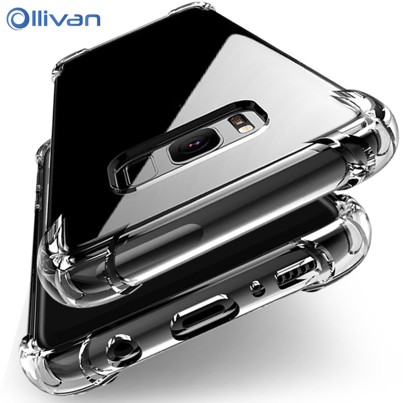 Shockproof Clear Silicone Case For Samsung Galaxy S6 S7 edge A3 A5 A7 J3 J5 J7 2017 S8 S9 Plus Note 8 9 A6 A8 Plus A7 2018 Cover(China)