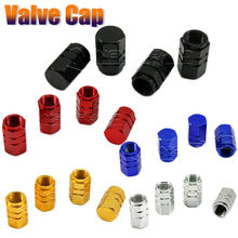 4Pcs Universal Aluminum Car Tyre Air Valve Caps Bicycle Tire Valve Cap Car Wheel Styling Round Red Black Blue Silver Gold D05