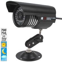 6mm Lens IP66 Waterproof Outdoor Indoor Security Cam Colorful IR 1200 TVL OSD Menu Night Vision CCD Camera with1/3 Sony sensor(China)