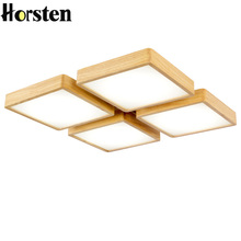 Horsten Simple Wooden Ceiling Lights Japan Style Bedroom Living Room Cafe Home Lighting Ceiling Lighting Solid Wood Ceiling Lamp(China)