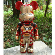NEW 11 Inches 28CM Avengers Iron Man Be@rBrick OriginalFake KAWS PVC Fashion Action Figure Collectible Model Toy RETAIL BOX S226(China)