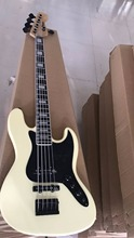 Custom Shop; 5 strings bass guitar with Best finish; Vintage White  color;free shipping