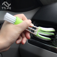 TTLIFE 1Pcs Car Diy New Plastic Car Air Conditioning Vent Blinds Cleaning Brush For Series Part Accessories Green Color(China)