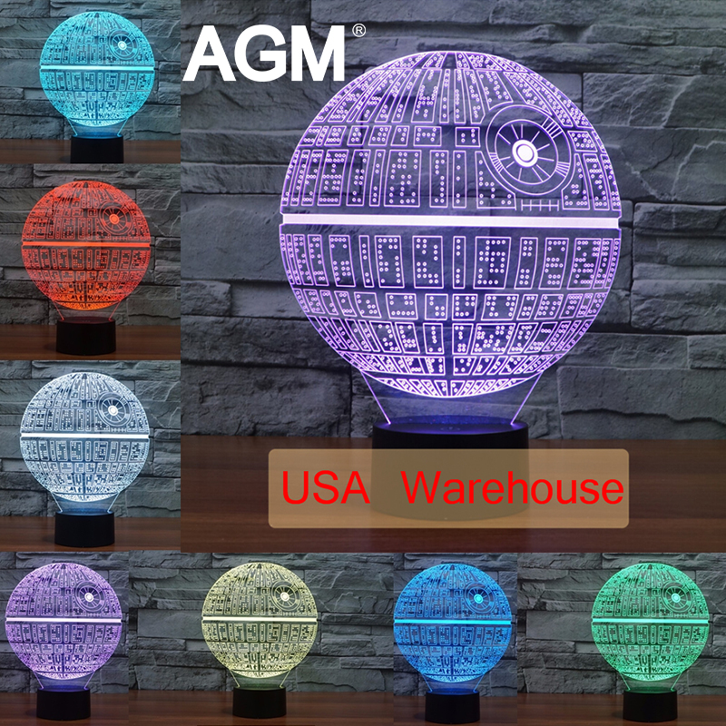 Star Wars Death Star 3D Lamp Touch Table lampe 7 Colors Changing 3D Desk Light Luminaria LED Lamp Novelty USB LED Night Lights<br><br>Aliexpress