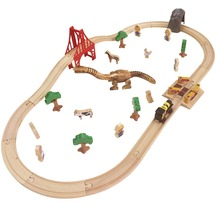 31pcs/lot traditional Child wooden toys Tomas and Friends railway train Track slot set