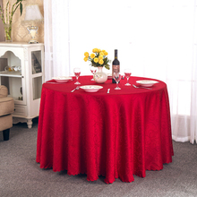 10 Pieces 9 Colors Custom Made 2*2 Meter Round Emboss  Polyester Fibre Table Cloth For Party and Wedding Decoration Tablecloth